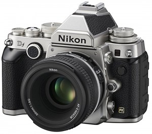 Nikon Df camera silver with 50mm