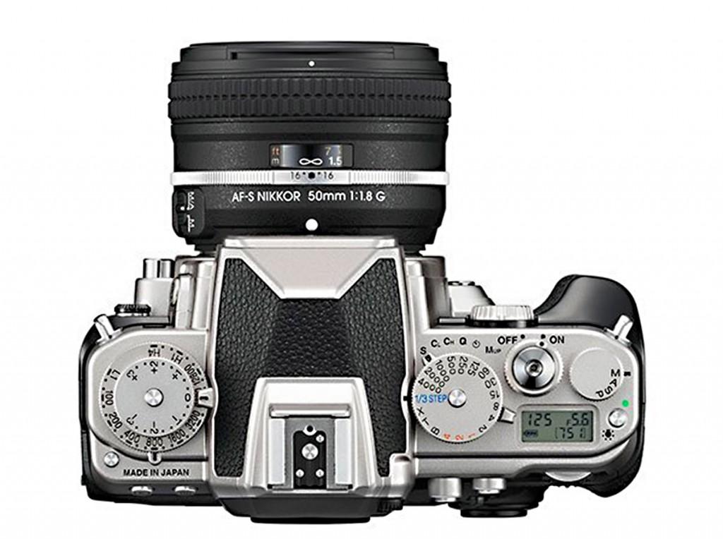 Nikon Df camera top silver