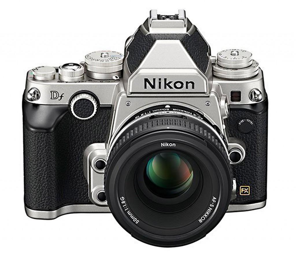 Nikon Df silver camera front